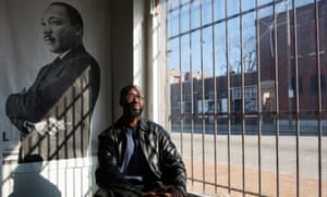Melvin White, founder of the non-profit agency Beloved Streets of American, poses for a photograph overlooking the intersection of Hamilton Avenue and Dr. Martin Luther King Drive.