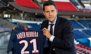 Ander Herrera has joined PSG on a free transfer after leaving Manchester United.