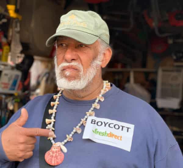 Daniel Chervoni in the community garden he tends in South Bronx.
