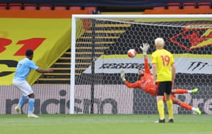 Ben Foster saves Raheem Sterling's penalty but ...
