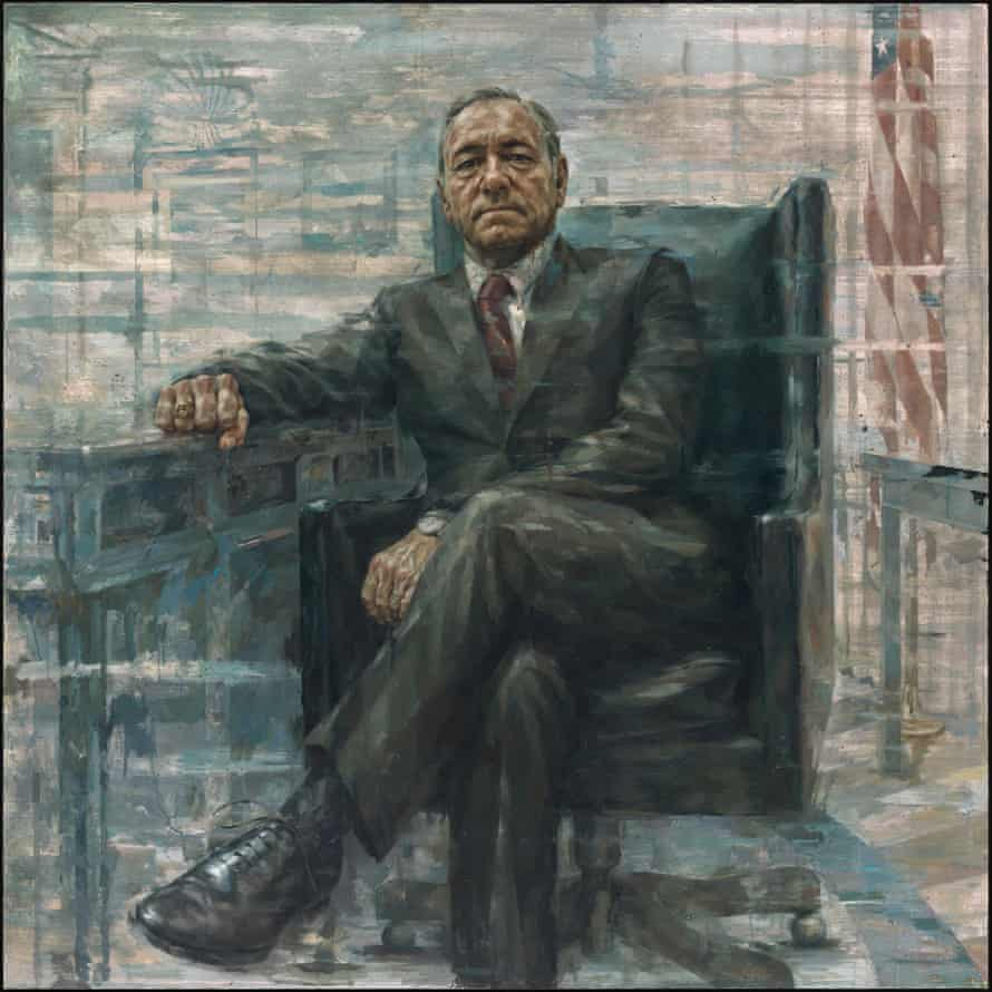 Would Frank Underwood like with the portrait? 'If you compare it to what Frank spends a good amount of time doing, which is looking you directly in the eye ... I think he'd be pleased with it', said Spacey.