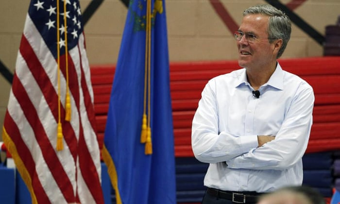 Former Florida governor Jeb Bush speaks at a campaign event Saturday in Henderson, Nevada.