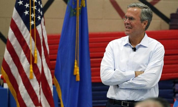 Former Florida governor Jeb Bush speaks at a campaign event Saturday in Henderson, Nevada.