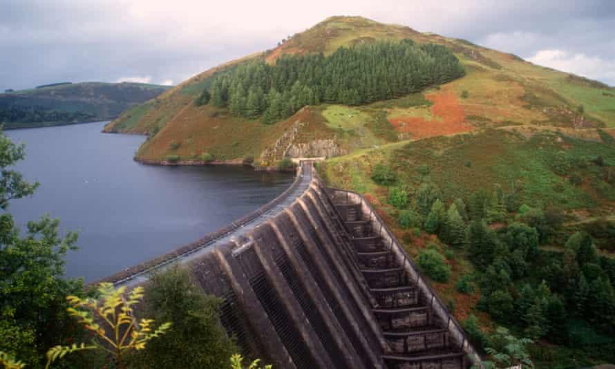 Llyn Clywedog reservior in the Elan Valley Mid Wales