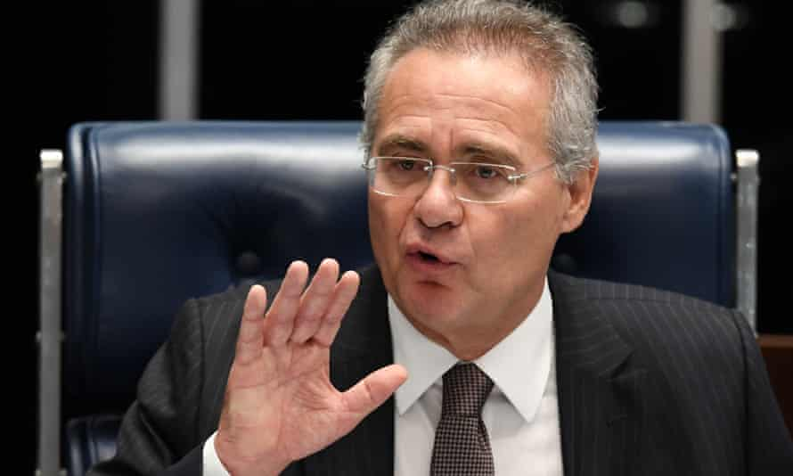 Renan Calheiros has been removed as Brazil's Senate president after being indicted for embezzlement.