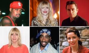 Chuck D, Courtney Love, Johnny Cash, June Carter Cash, Tupac and Kim Gordon.