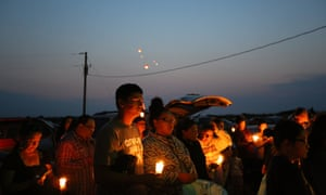 A wake for Tyler Dubray. His death was the 11th suicide on the reservation since April