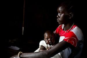 Akujang, 15, and her daughter