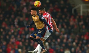 Alex Oxlade-Chamberlain has not always taken his chances this season but performed admirably in central midfield at the Britannia Stadium.