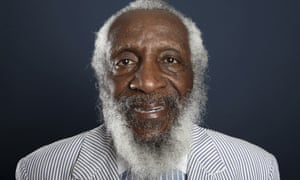 Dick Gregory in 2012. He was sharp, but could soften his edge too. 'Segregation's not all bad,' he said. 'Have you ever heard of a collision where the people in the back of the bus got hurt?'