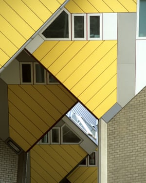 Innovative cube homes in Rotterdam.