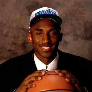 First round NBA draft pick Kobe Bryant poses for a photo, aged 17. He was traded to LA Lakers on Jul 9, 1996.
