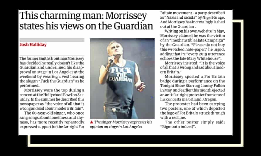 Morrissey in the Guardian