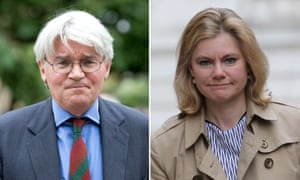 Andrew Mitchell and Justine Greening