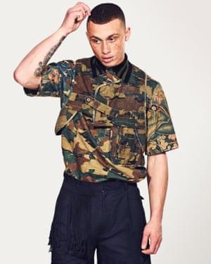 model wears waistcoat £466, polo top £380, and shorts £310,  all Dries Van Noten libertylondon.com