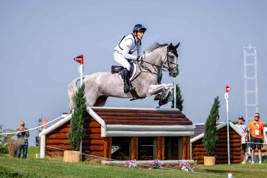 Oliver Townend rides Ballaghmor Class over a little house.