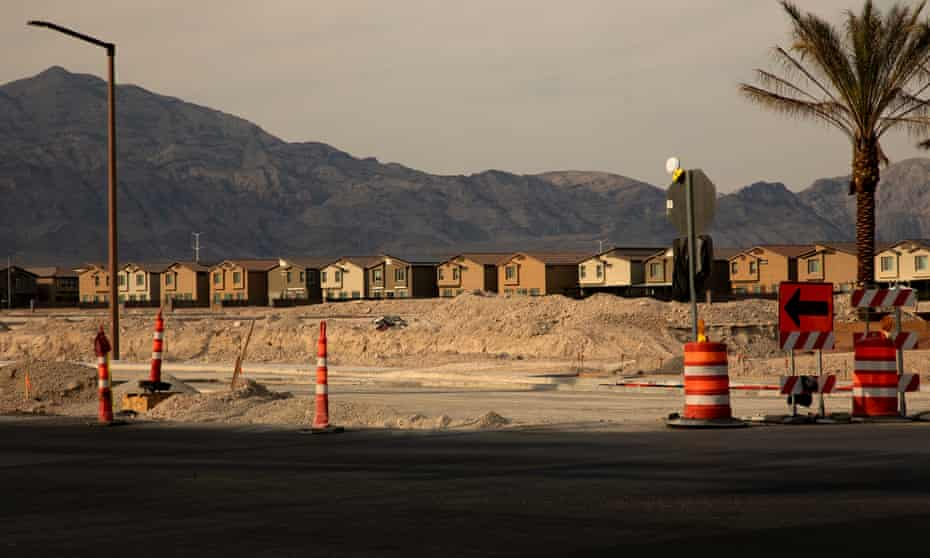 The population in Las Vegas is booming, and construction continues even on the hottest days.
