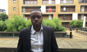 George Anibaba outside Samuel Jones Court