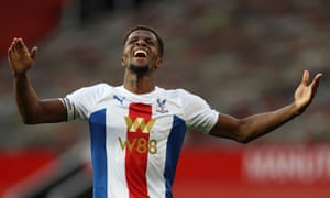 Wilfried Zaha during Crystal Palace's 3-1 win at  Manchester United on 19 September 2020