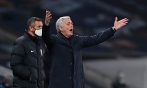 Jose Mourinho reacts on the touchline