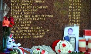 The Hillsborough Memorial at Anfield.