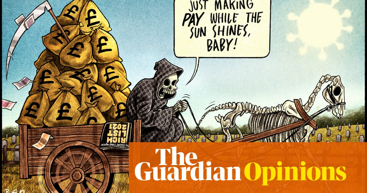Ben Jennings on the rich getting richer during Covid-19 – cartoon