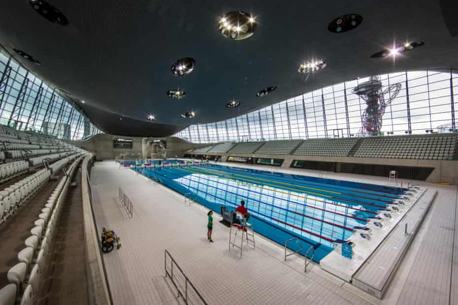 London Aquatics Centre at the Olympic Park in Stratford.