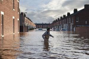 Storm Desmond caused flooding in Carlisle, England