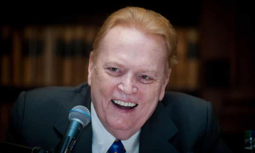 Larry Flynt speaks at the Oxford Union in 2014.