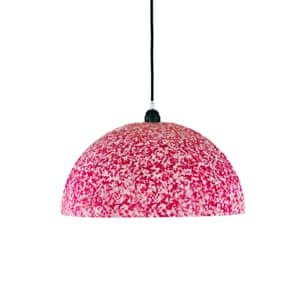 Luna hot pink pendant lamp
