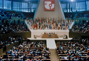 The opening ceremony of the first UN world conference on women, held in in Mexico City on 19 June 1975