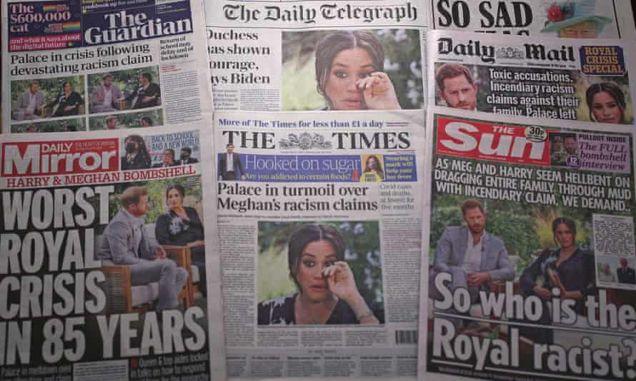 UK front pages after Harry and Meghan's Oprah interview