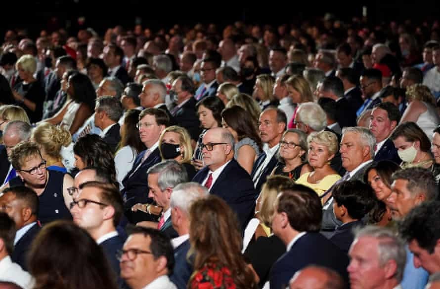 Supporters of Donald Trump packed the South Lawn of the White House for his acceptance speech at the RNC.