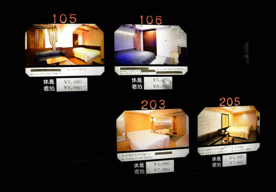 A selection of rooms available at The Rock Kowloon Walled City in Iruma, suburban Tokyo where couples can play 'doctors and nurses' to grottos where it is permanently Christmas.