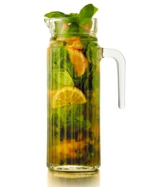 Cori Pim-Keirle's mandarin basil shrub cooler.