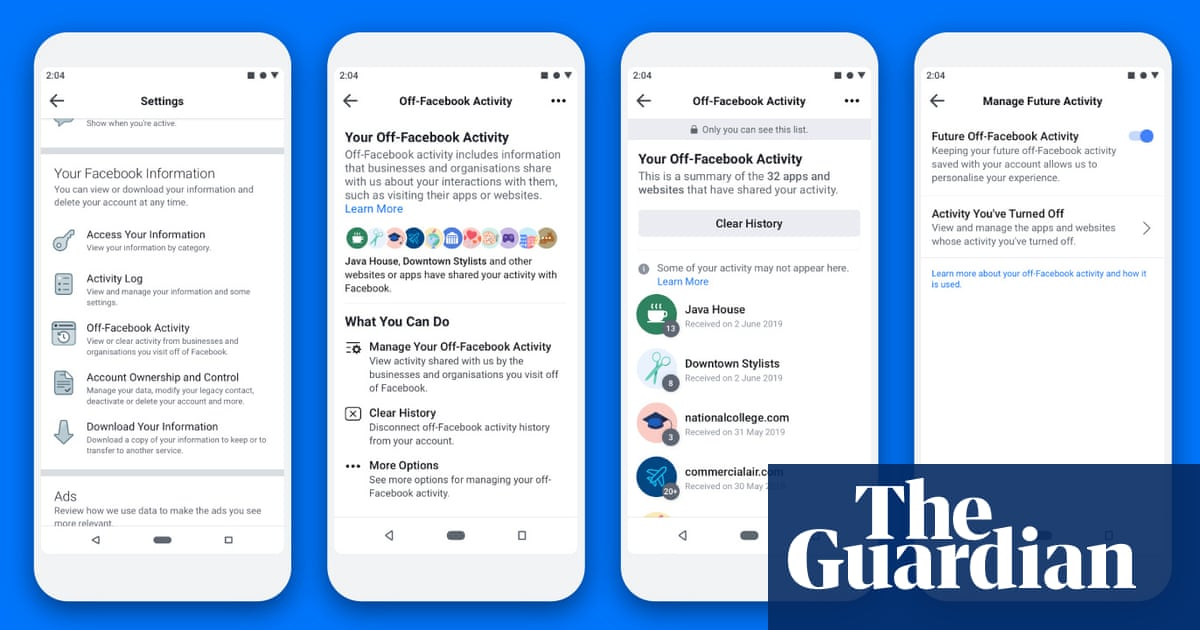 Facebook launches 'clear history' tool – but it won't delete