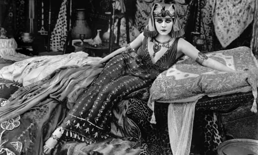 Hollywood starlet Theda Bara, whose agents claimed she was the daughter of an Arab sheik – when in fact she was born in Cincinnati, Ohio.