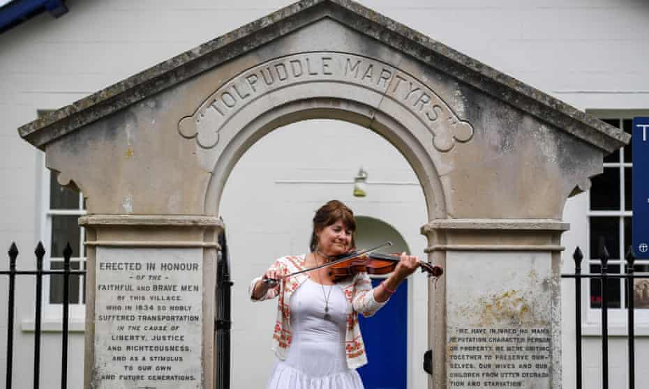 Resident violinist Lorraine Tillbrook takes part in the annual event to honour the Tolpuddle Martyrs in July 2020.