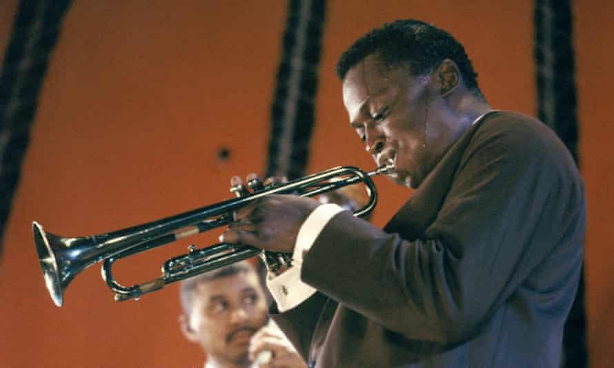 Miles davis playing the trumpet. Copyright Gai Terrell / Redferns
