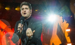 Michael Buble performs at British Summer Time at London's Hyde Park on Saturday.
