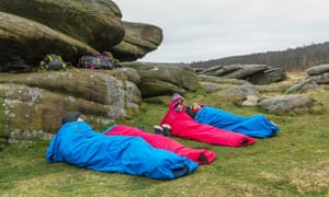 Let's get bivvy: the family get ready to sleep under the stars.