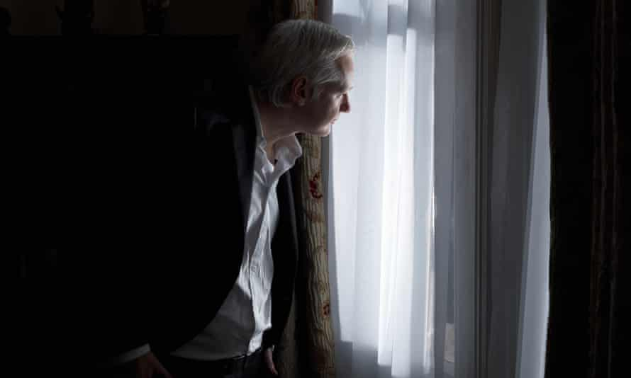 Julian Assange in the Ecuadorian embassy in London