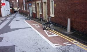Bad cycle lanes. Stafford