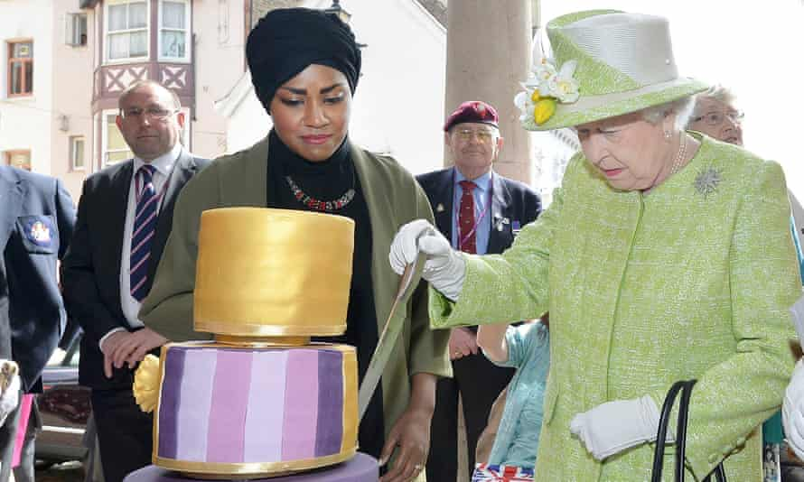 Nadiya Hussain with the Queen