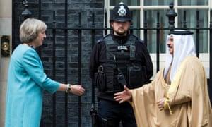 Theresa May meets King Hamad bin Isa Al Khalifa of Bahrain in October