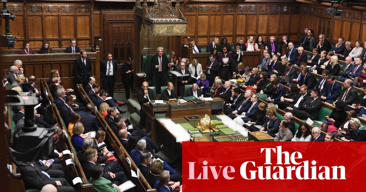 Brexit: MPs begin debate on withdrawal agreement bill - live news