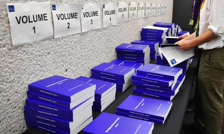 Volumes of the The Iraq Inquiry Report into the UK government's involvement in the 2003 Iraq War.