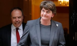 The DUP leader, Arlene Foster, and her deputy, Nigel Dodds