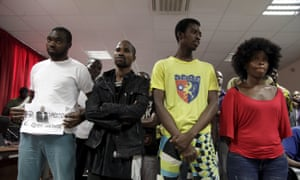 Members of the so-called Luanda book club, who were sentenced to between two and eight-and-a-half years in jail.