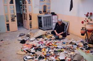 Assam surveys the debris left by Isis, who used his family's home in Jalawla, Iraq, as their headquarters